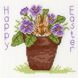 Easter Bunny Cross Stitch Card Kit by Bothy threads