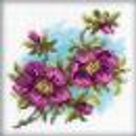 """Counted Hellebore Cross Stitch Kit 4""""X4"""" by RTO"""