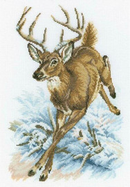 Counted  Forest Deer Cross Stitch Kit by RTO