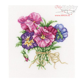 Counted Violets Bouquet Cross Stitch Kit  by RTO