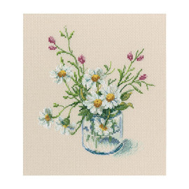 "Warm Piece Of Bloomy Summer Counted Cross Stitch Kit 6.7""X6.89"" by RTO"