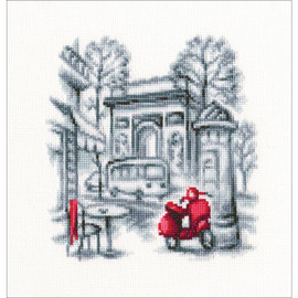 "On The Streets Of Paris 2  Counted Cross Stitch Kit 5.7""X5.9"" by RTO"