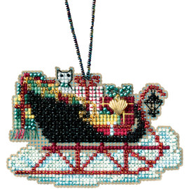 "Vintage Sleigh Counted Cross Stitch Kit 5""X7"" by Mill Hill"