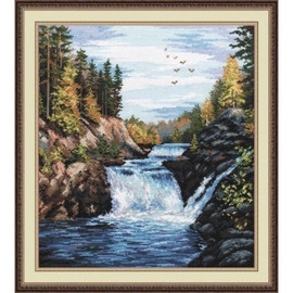 KIVACH FALLS cross stitch kit by OVEN