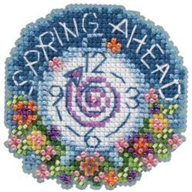 Spring Ahead by Mill Hill Counted Cross Stitch and Glass Beading Kit