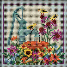 WATER PUMP cross stitch kit and Glass Beading by MILL HILL