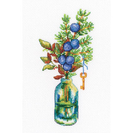 Forest Buttonholes cross stitch kit by RTO