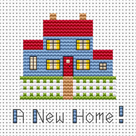 Simple stitches New Home cross stitch kit by FAT CAT