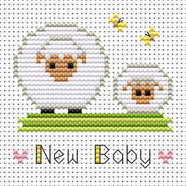 Simple stitches New baby sheep cross stitch kit by FAT CAT
