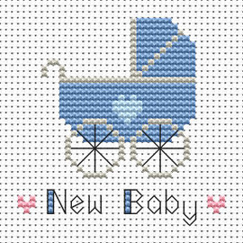 Simple stitches New baby boy cross stitch kit by FAT CAT