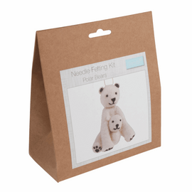 Needle Felting Kit: Polar Bear By Trimit