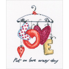 Put on love everyday cross stitch kit by RTO