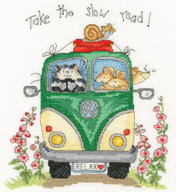 Take the Slow Road Cross Stitch Kit by Bothy Threads
