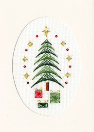 Christmas Card – All Wrapped Up cross stitch Kit by Bothy Threads
