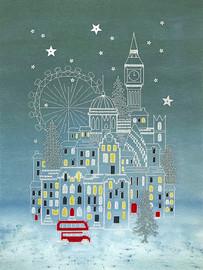 Snowy London Cross Stitch Kit by Bothy Threads