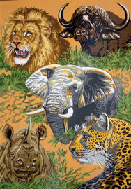 Animals of Africa Tapestry Canvases By Gobelin