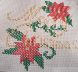 Mini Counted Cross Stitch Kit: Merry Christmas by Trimit