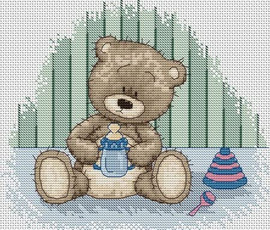 Baby Bianca Counted Cross Stitch Kit By Luca-S