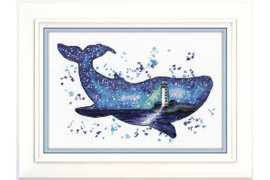 ANIMAL WORLD. WHALE cross stitch kit by OVEN