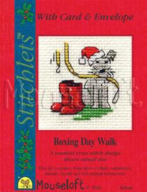 Boxing Day Walk Cross Stitch Kit By MouseLoft