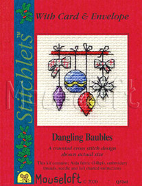 Dangling Baubles Cross Stitch Kit By MouseLoft