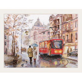 OCTOBER IN THE CITY cross stitch Kit by Alisa