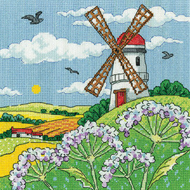 Windmill Landscape Cross Stitch Kit By Heritage Crafts