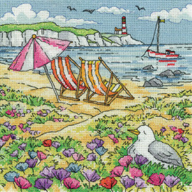 Summer Shore Cross Stitch Kit By Heritage Crafts