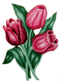 Red Tulips Tapestry Kit By Gobelin