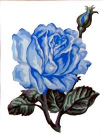 Blue Rose Tapestry Kit By Gobelin