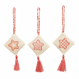 Counted Cross Stitch Kits: Christmas Decorations: Stars: Rose Gold By Anchor
