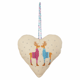 Counted Cross Stitch Kit: Heart Door Hanger: Deer By Anchor