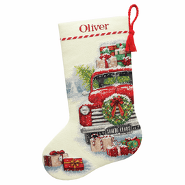 Counted Cross Stitch: Stocking: Santa's Truck By Dimensions