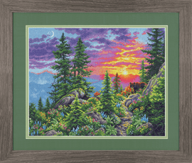 Counted Cross Stitch Kit: Sunset Mountain Trail By Dimensions
