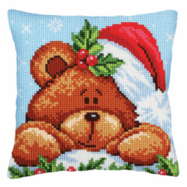 Christmas with a Teddy Bear Chunky Cross Stitch Kit by D'Art