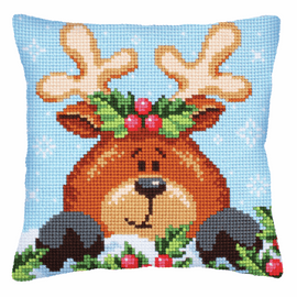 Christmas with Fawn Chunky Cross Stitch Kit by D'Art