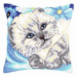 Cute Kitten Chunky Cross Stitch Kit by D'Art