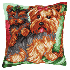 Dogs on the Armchair Chunky Cross Stitch Kit