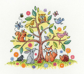 Tree Of Life Cross Stitch Kit By Heritage Crafts