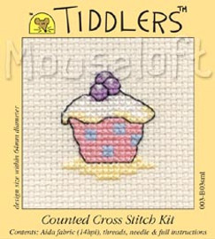 Cupcake Tiddler Cross Stitch Kit by Mouseloft