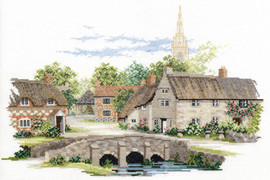 Village England – Wiltshire Village Cross Stitch Kit By Bothy Threads