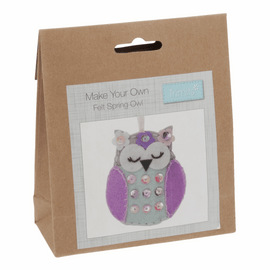 Spring Owl Felt Decoration Kit By Groves And Banks