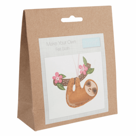 Sloth Felt Decoration Kit By Groves And Banks