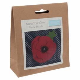 Felt Decoration Kit: Poppy Brooch By Trimits