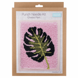 Punch Needle Kit: Cheese Plant By Trimits