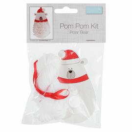 Christmas Polar Bear Pom Pom Decoration Kit By Groves And Banks