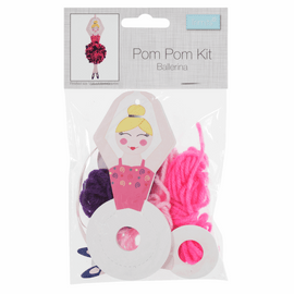 Christmas Sugar Plum Fairy Pom Pom Decoration Kit By Groves And Banks