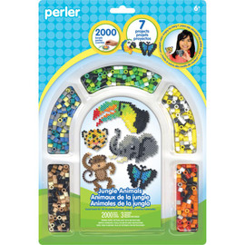 Jungle Perler Fused Bead Kit