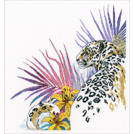 "Jaguar Counted Cross Stitch Kit 7.87""X8.66"" by RTO"