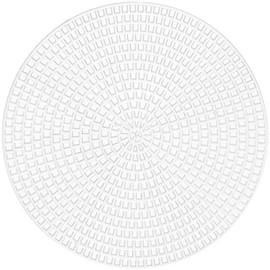 """Pack of 8 Darice Plastic Canvas Shapes Round Count 4.25"""""""